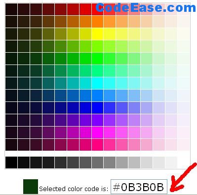 Онлайн палитра html цветов
