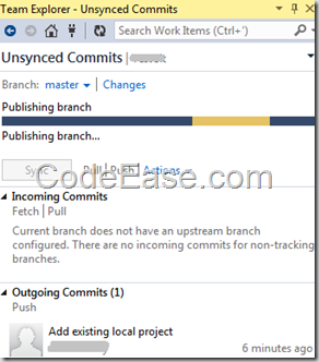 CodeEase com - Add Local Project to Visual Studio Online