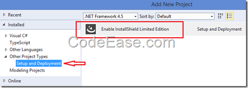 CodeEase com - Setup Project in Visual Studio 2012 and 2013