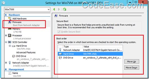 CodeEase com - Install Windows 7 on Hyper-V Virtual Machine