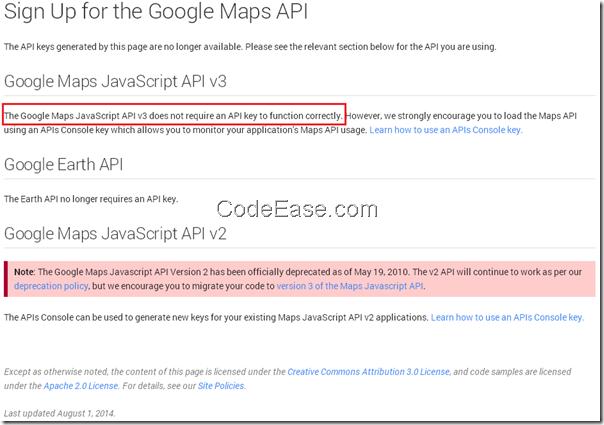 Google maps javascript api v3 not required api key - Google map api key console ...